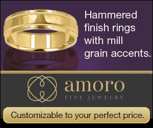 hammered finish rings